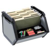 find It Stackable Bin Storage Box, Letter, Plastic, 15-3/4 x 15x 14, Gray IDEFT07026