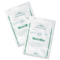 PM Company SecurIT Plastic Money Bags, Tamper Evident, 9 x 12, White, 50/Pack PMC58020