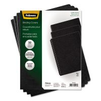 Fellowes Executive Presentation Binding System Covers, 11-1/4 x 8-3/4, Black, 50/Pack FEL52146