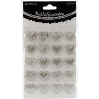Bella! Wedding Self-Adhesive Hearts 20/Pkg NOTM298341