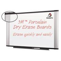 3M Porcelain Dry Erase Board, 96 x 48, Widescreen Aluminum Frame MMMP9648A