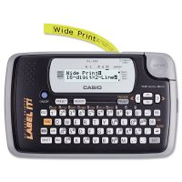 Casio KL-120 Label Maker, 2 Lines, 7-1/2w x 4-1/2d x 2-1/5h CSOKL120L