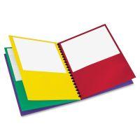Oxford Elegant Stripe Eight-Pocket Organizer, 200-Sheet Capacity, Multi-colored, 1 Each OXF99656
