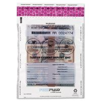 MMF Industries FREEZFraud Tamper-Evident Deposit Bags, 9 x 12, Clear, 100/Box MMF236210320
