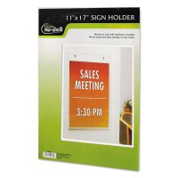 NuDell Clear Plastic Sign Holder, Wall Mount, 11 x 17 NUD38017Z