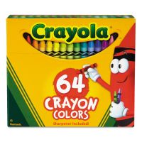 Crayola Classic Color Crayons in Flip-Top Pack with Sharpener, 64 Colors CYO52064D
