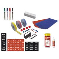 MasterVision Magnetic Board Accessory Kit, Blue/Red BVCKT1317