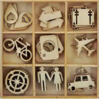 Just Landed Wooden Shapes 45/Pkg NOTM302182