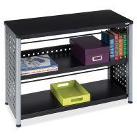Safco Scoot 2-Shelf Metal Bookcase SAF1601BL