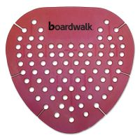 Boardwalk Gem Urinal Screen, Lasts 30 Days, Red, Spiced Apple Fragrance, 12/Box BWKGEMSAP