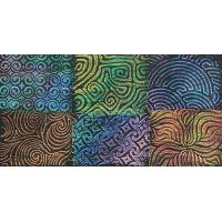"""Artist's Paintstiks Rubbing Plates 7.125""""X7.125"""" 6/Pkg NOTM325610"""