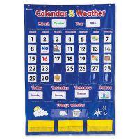 Learning Resources Calendar/Weather Pocket Chart LRNLER2418