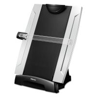 Fellowes Office Suites Desktop Copyholder, Plastic, 150 Sheet Capacity, Black/Silver FEL8033201
