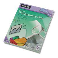 Apollo Write-On Transparency Film, Letter, Clear, 100/Box APOWO100CB