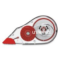 "Universal Correction Tape Dispenser, Non-Refillable, 1/5"" x 315"", 6/Box UNV75606"
