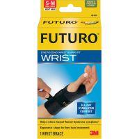 "FUTURO Energizing Wrist Support, S/M, Fits Right Wrists 5 1/2""- 6 3/4"", Black MMM48400EN"