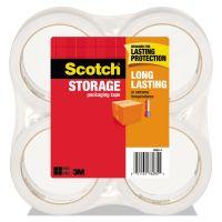 "Scotch Storage Tape, 1.88"" x 54.6yds, 3"" Core, Clear, 4 Rolls/Pack MMM36504"
