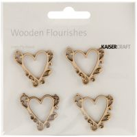 Wood Flourishes 4/Pkg NOTM257863