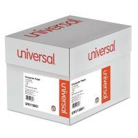 Universal Blue Bar Computer Paper, 18lb, 14-7/8 x 11, Perforated Margins, 2600 Sheets UNV15861