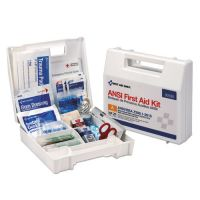 First Aid Only ANSI 2015 Compliant Class A Type I & II First Aid Kit for 25 People, 89 Pieces FAO90588