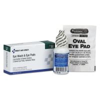 First Aid Only Eyewash Set w/Eyepads and Adhesive Strips FAO7009
