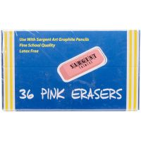 Sargent Art Large Pink Erasers 36/Pkg NOTM241217