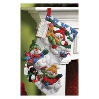 Snow Fun Stocking Felt Applique Kit NOTM376965
