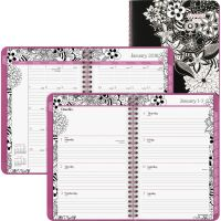 AT-A-GLANCE Floradoodle Desk Weekly/Monthly Planner, 6 1/2 x 8 7/8, 2019 AAG589200