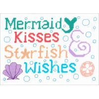 Mermaid Kisses Counted Cross Stitch Kit NOTM098835