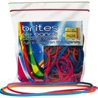 Brites! File Bands Colored Rubber Bands ALL07800