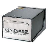 San Jamar Countertop Napkin Dispenser, 7 5/8 x 11 x 5 1/2, Capacity: 300 Napkins, Black SJMH3001BKC