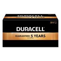 Duracell CopperTop Alkaline Batteries, 9V, 12/BX DURMN1604BKD