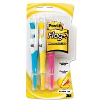 Post-it Flag+ Writing Tools Flag + Highlighter, Blue/Pink/Yellow, 50 Flags, 3/Pack MMM689HL3
