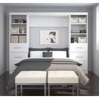 "Bestar Pur by Bestar 109"" Full Wall bed kit in White BESBES2689417"
