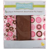 "Babyville PUL Waterproof Diaper Fabric 21""X24"" Cuts 3/Pkg NOTM140166"