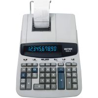 Victor 1530-6 Two-Color Ribbon Printing Calculator, Black/Red Print, 5 Lines/Sec VCT15306