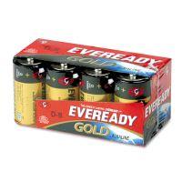 Eveready Gold Alkaline Batteries, D, 8 /Pk EVEA958