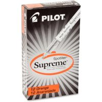 Pilot Spotliter Supreme Highlighter, Chisel Point, Fluorescent Orange, Dozen PIL16009