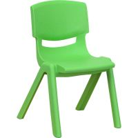 Flash Furniture Plastic Stacking School Chair  FHFYUYCX001GREENGG