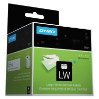 DYMO LabelWriter Address Labels, 1 2/5 x 3 1/2, White, 260 Labels/Roll, 2 Rolls/Pack DYM30321