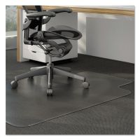 Alera Cleated Chair Mat for Low and Medium Pile Carpet, 36 x 48, Clear ALEMAT3648CLPL