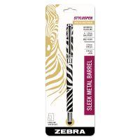 Zebra StylusPen Capped Ballpoint Pen/Stylus, Zebra Print ZEB33411
