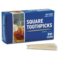 """Royal Square Wood Toothpicks, 2 3/4"""", Natural, 800/Box, 24 Boxes/Carton RPPR820SQ"""