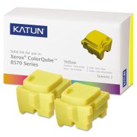 Katun 39399 Compatible 108R00928 Solid Ink Stick, Yellow, 2/BX KAT39399