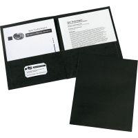 Avery Two-Pocket Folder, 40-Sheet Capacity, Black, 25/Box AVE47988