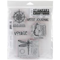 "Stampers Anonymous Rubber Stamp Set 7""X8.5"" NOTM299909"