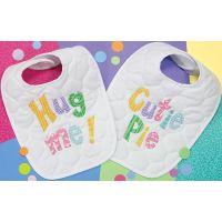 Dimensions Baby Hugs Cutie Patootie Bibs Stamped Cross Stitch Kit NOTM304416