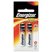 Energizer MAX Alkaline Batteries, AAAA, 2 Batteries/Pack EVEE96BP2