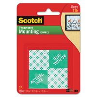 Scotch Precut Foam Mounting 1 Squares, Double-Sided, Permanent 16/Pack MMM111P