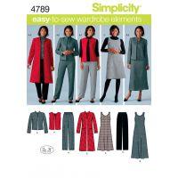 Simplicity Misses'/Women's Pants, Vest A NOTM496066